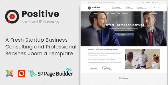 Positive - Startup Business Joomla Template - Business Corporate