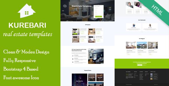 Kurebari - Real Estate Responsive Template - Business Corporate