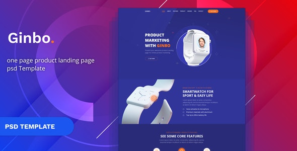 Ginbo - Product Landing Page - Marketing Corporate