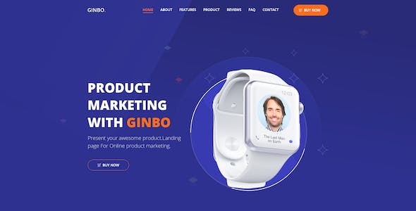 Ginbo - Product Landing Page