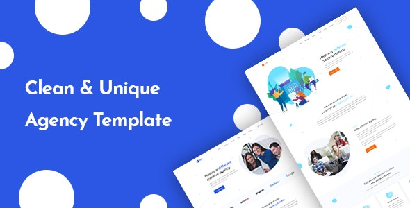 Estro - Creative Agency PSD Template - Photoshop UI Templates