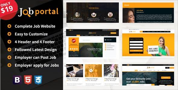 Job Portal Website Templates from ThemeForest