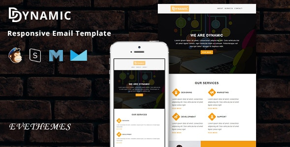 Dynamic - Responsive Email Template - Newsletters Email Templates