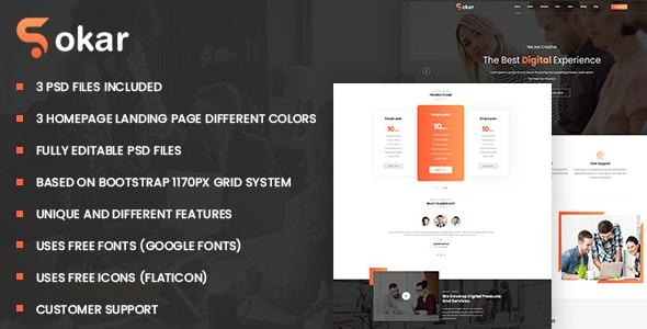 Sokar - Business & Corporate PSD Template - Corporate Photoshop