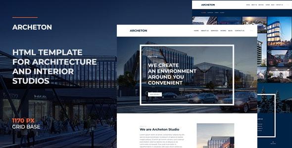 Archeton | Interior Design & Architecture HTML Template - Corporate Site Templates