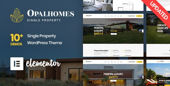 Opalhomes - Single Property  WordPress Theme - Real Estate WordPress
