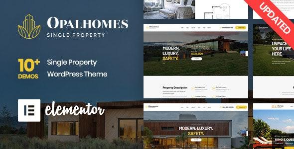 Opalhomes - Single Property  WordPress Theme - Real Estate WordPress