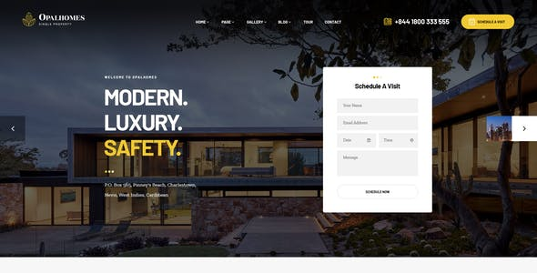Opalhomes - Single Property  WordPress Theme