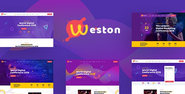 Weston - Conference & Event HTML Template - Events Entertainment