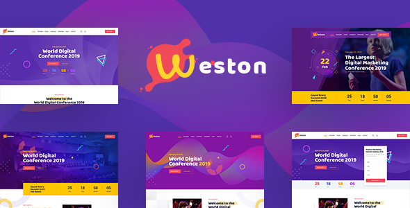 Weston - Conference & Event HTML Template by template_path