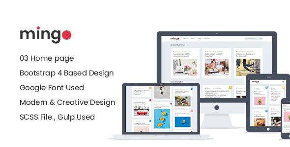 Mingo - Magazine & Blog Responsive HTML Site Template - Retail Site Templates