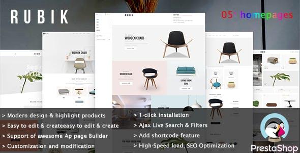 Leo Rubik - Interior Furniture E-Commerce Prestashop Theme