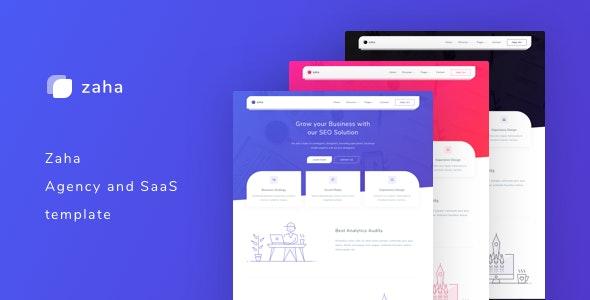 Zaha v1.0 – Agency and SaaS Template