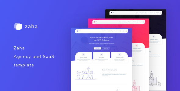 Zaha - Agency and SaaS Template - Software Technology
