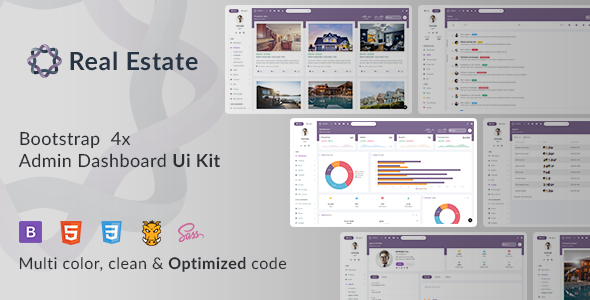 Oreo RealEstate - Bootstrap Admin Template - Admin Templates Site Templates