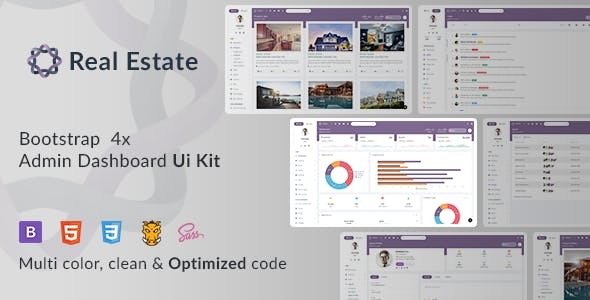 Oreo RealEstate - Bootstrap Admin Template