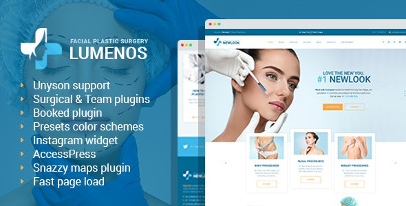 Lumenos - Plastic Surgery Clinic WordPress Theme - Health & Beauty Retail