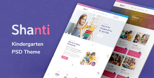 Shanti - Kindergarten and Preschool PSD Template - Miscellaneous PSD Templates