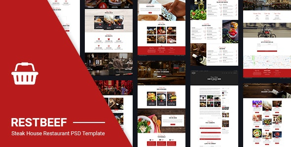 Restaurant PSD | Restbeef Restaurant - Food Retail