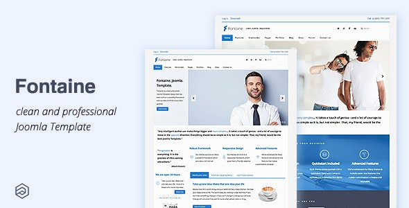 Fontaine - Responsive Business Joomla Template