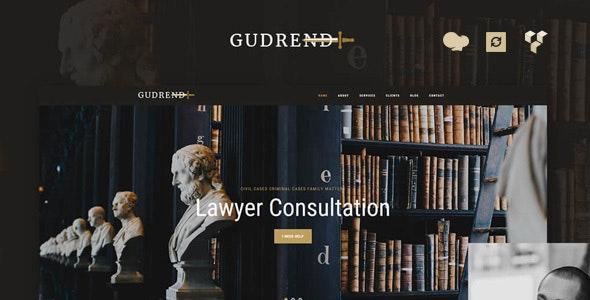Gudrend - Lawyer Consultation WordPress Theme - Business Corporate