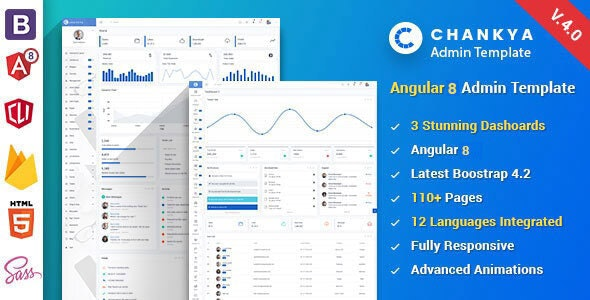 Angular 8 Bootstrap 4 Admin Template by IronNetwork
