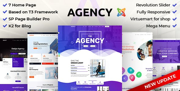 Agency: Multipurpose Joomla Website Template Using Framework