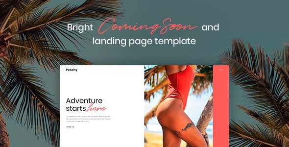 Peachy - Bright Coming Soon and Landing Page Template - Under Construction Specialty Pages