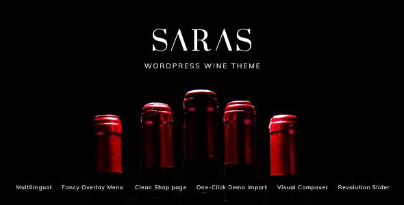 Saras - Wine WordPress Theme - Food Retail