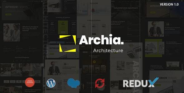 Archia - Architecture & Interior WordPress Theme - Portfolio Creative