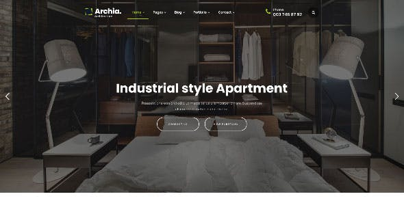 Archia - Architecture & Interior WordPress Theme