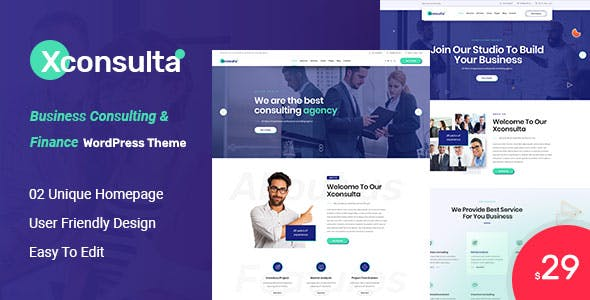 Xconsulta - Business & Startup Landing Page WordPress Theme