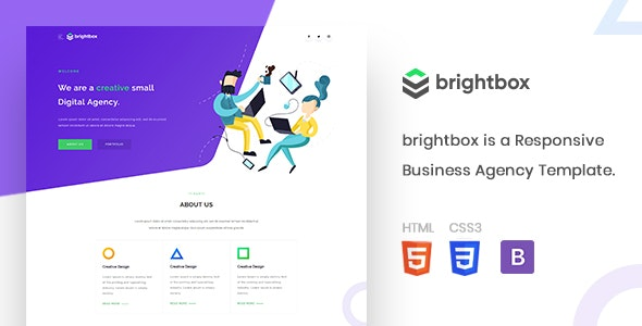 Brightbox - Business Agency Template - Creative Site Templates