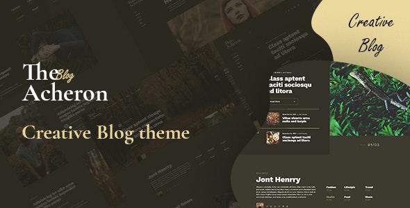 Acheron - Creative Blog WordPress Theme - Blog / Magazine WordPress