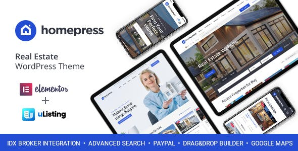 HomePress - Real Estate WordPress Theme nulled theme download