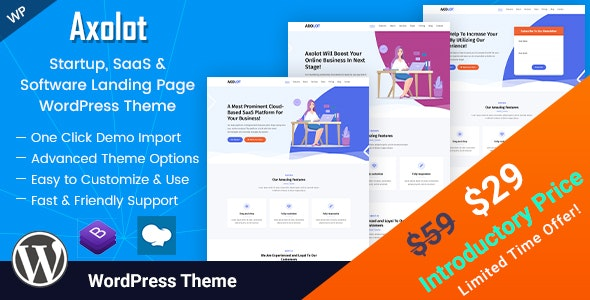 Axolot - IT Solutions and Services Company WordPress Theme - Software Technology