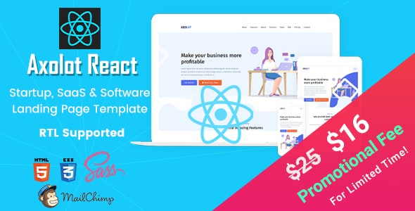Axolot - React IT Solutions and Technology Services Template - Business Corporate