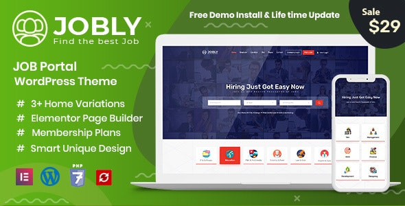 Jobly - Career Builder WordPress Theme - Directory & Listings Corporate
