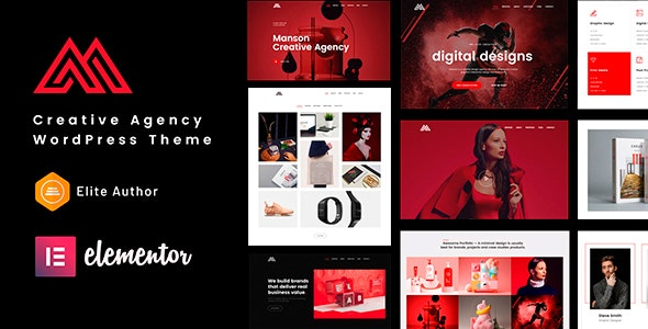 Manson - Creative Agency WordPress Theme - Creative WordPress
