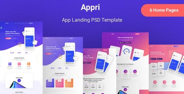 Appri - App Landing PSD Template - Software Technology