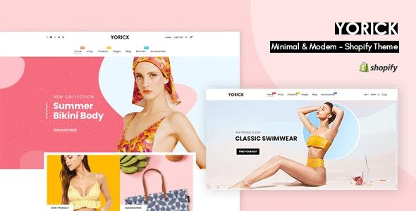 Yorick - Clean Shopify Theme - Fashion Shopify