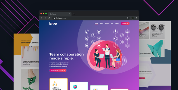 Boro - HTML templates for SaaS & Apps Startup Company by deTheme