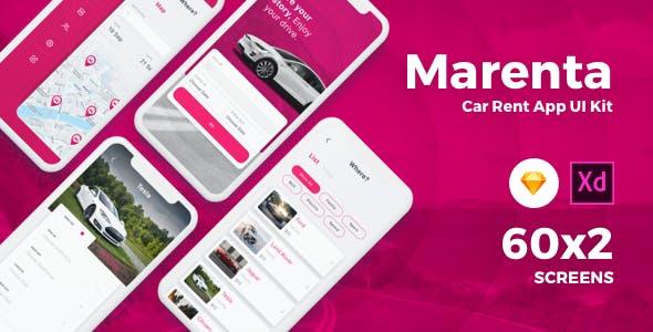 Marenta - Car Rental App UI Kit