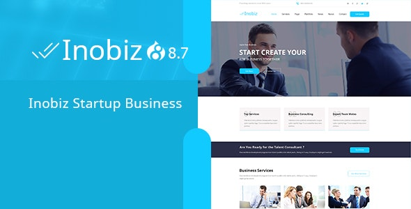 Inobiz - Startup Business and Agency Drupal 8.8 Theme - Business Corporate
