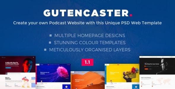 Gutencaster - Podcasting Website PSD Templates - Film & TV Entertainment