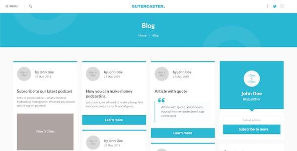 Gutencaster - Podcasting Website PSD Templates