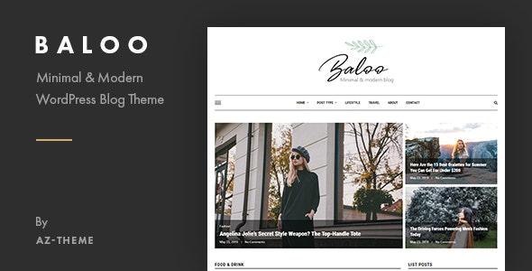 Baloo - Minimal & Modern Blog WordPress Theme - Blog / Magazine WordPress