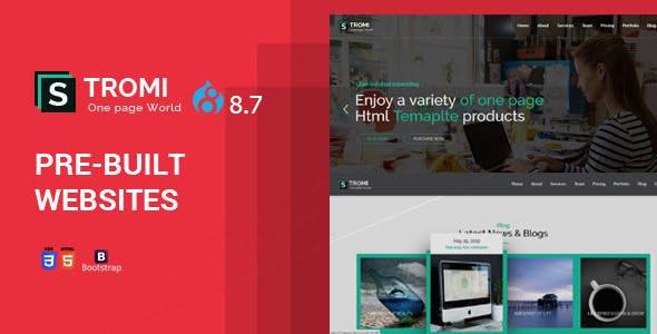 Stromi | One Page Drupal 8.8 Theme - Creative Drupal