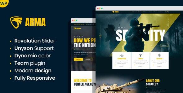 Arma - Military Service WordPress Theme - Nonprofit WordPress