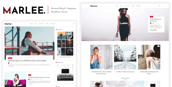 Marlee - Personal WordPress Blog Theme - Blog / Magazine WordPress